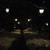 Photo taken at сквер Київського Будинку Вчених by Basileus Z. on 12/19/2012