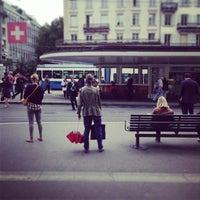Photo taken at Paradeplatz by Thomas W. on 8/28/2013