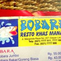 Photo taken at Bobara~Manado food by @_iBudhie on 5/28/2013