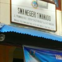 Photo taken at SMA Negeri 1 Manado by Noldy P. on 7/7/2014