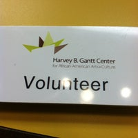 Photo taken at Harvey B. Gantt Center for African-American Arts + Culture by Destiny C. on 10/11/2012