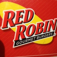 Photo taken at Red Robin Gourmet Burgers by Ashley C. on 1/10/2013