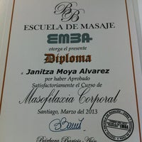 Photo taken at Escuela de masajes EMBA by Jani M. on 3/15/2013
