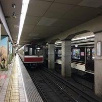 Photo taken at Dobutsuen-mae Station (M22/K19) by T on 7/16/2017
