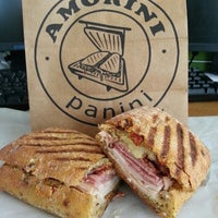 Photo taken at Amorini Panini Truck by DC Dining Adventures on 3/23/2014