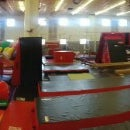 Photo taken at Dynamite Gymnastics Center by Rob L. on 1/26/2013