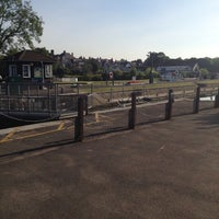 Photo taken at Sunbury lock by Andrew G. on 7/2/2014