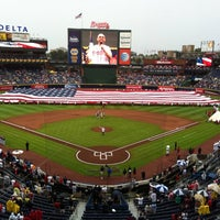 Photo taken at Turner Field by Chan H. on 7/4/2013