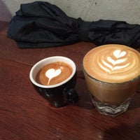 Photo taken at Spitfire Coffee by Sarah L. on 3/19/2015