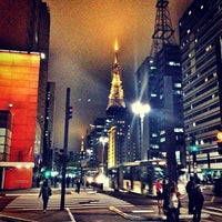 Photo taken at Paulista Avenue by Vitor M. on 7/22/2013