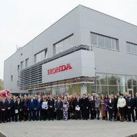 Photo taken at Honda Ukraine by Vadym V. on 10/22/2013