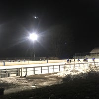Photo taken at larz anderson skating rink by Simon Λ. on 12/13/2017