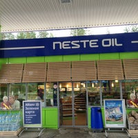 Photo taken at Neste Oil АЗС №528 by Ася Н. on 7/6/2013