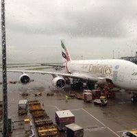 Photo taken at Emirates Lounge by Scott L. on 5/9/2014