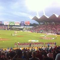 Photo taken at Estadio Hiram Bithorn by Carlos O. on 3/10/2013
