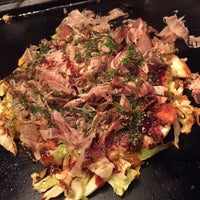 Photo taken at もんじゃお好み焼呑具里 by ken2go2 on 2/8/2015