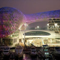 Photo taken at Yas Marina & Yacht Club by Visit Abu Dhabi on 10/8/2013