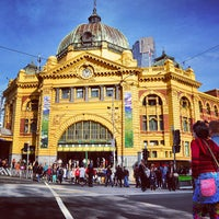 Photo taken at Flinders Street Station by Saleh A. on 6/15/2013