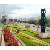 Photo taken at Plaza Venezuela by Hugo L. on 8/24/2014