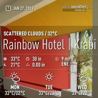 Photo taken at Rainbow Hotel by Tanu P. on 1/27/2013