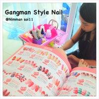 Photo taken at Gangman Style Nail by BourNounpajong N. on 5/10/2013