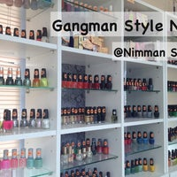 Photo taken at Gangman Style Nail by BourNounpajong N. on 5/18/2013
