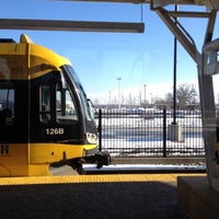 Photo taken at Fort Snelling LRT Station by Cat H. on 12/22/2012