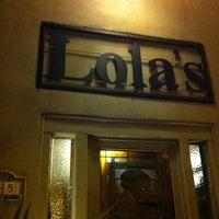 Photo taken at Lola's by Tara F. on 1/13/2013