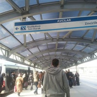 Photo taken at Avcılar Metrobüs Durağı by AbNuR on 3/29/2013
