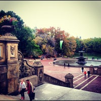 Photo taken at Bethesda Terrace by Nicholas F. on 10/28/2012