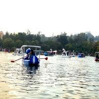 Photo taken at Burnham Park by Daphne S. on 10/30/2012