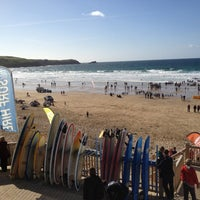 Photo taken at Fistral Beach Bar by Michael T. on 9/29/2012