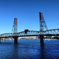 Photo taken at Hawthorne Bridge by David V. on 7/12/2013