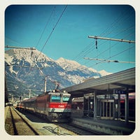 Photo taken at Innsbruck Hauptbahnhof by Raúl P. on 4/24/2013