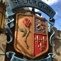 Photo taken at Be Our Guest Restaurant by Justice M. on 4/6/2013