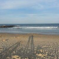 Photo taken at Belmar Beach by Christopher W. on 7/27/2013