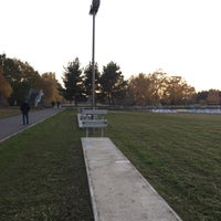 Photo taken at Hans-Baluschek-Park by Finn P. on 11/12/2016