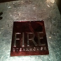 Photo taken at Fire Steakhouse by David F. on 11/21/2013
