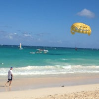 Photo taken at Riu Palace's Beach by Jorge A. on 1/1/2013