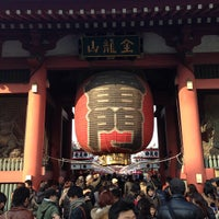 Photo taken at Kaminarimon Gate by 淳 佐. on 2/11/2013