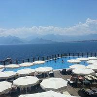 Photo taken at Ramada Plaza Antalya by Deniz D. on 6/16/2013