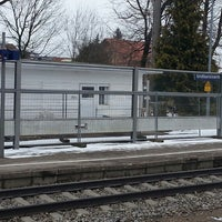 Photo taken at Bahnhof Großkarolinenfeld by Daniela E. on 2/28/2013