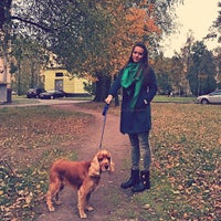 Photo taken at Doggy Walk by Karina G. on 9/30/2014