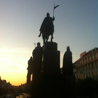 Photo taken at Saint Wenceslas statue by Diana P. on 7/22/2013