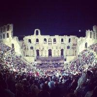 Photo taken at Herod Atticus Odeon by Konstantinos P. on 10/6/2012
