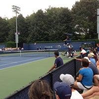 Photo taken at Court 14 - USTA Billie Jean King National Tennis Center by Moo N. on 8/23/2013