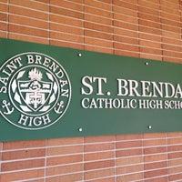 Photo taken at St Brendan High School by Bill B. on 3/8/2013