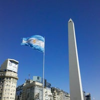 Photo taken at Obelisco - Plaza de la República by Gonzalo P. on 1/3/2013
