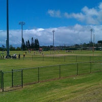 Photo taken at Eddie Tam Field and Gym by James M. on 6/22/2013