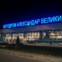 Photo taken at Skopje Alexander the Great Airport (SKP) by Kiril T. A. on 1/5/2013